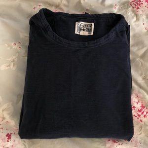 Converse All Star Navy Long Sleeve T Shirt